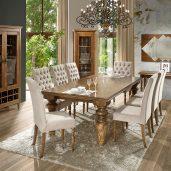 Imagem publicitária produzida pelo Studio 25 para a sala de jantar da CM Móveis