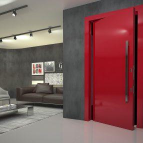 Porta moderna da Famossul em ambientação criada pelo Studio 25