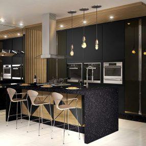 Cozinha Andrey da Nova Soluções em imagem publicitária produzida pelo Studio 25