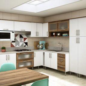 Cozinha Compacta Moderna da Celmobile em imagem publicitária produzida pelo Studio 25
