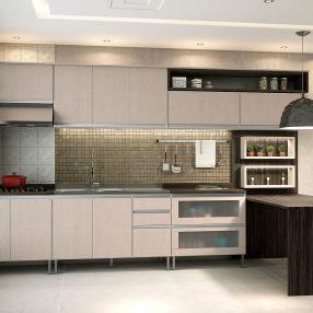 Cozinha compacta da Celmobile em imagem publicitária produzida pelo Studio 25