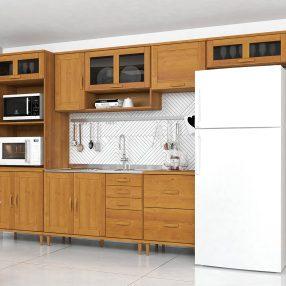 Cozinha Jade da Finestra em imagem produzida em Render 3D pelo Studio 25