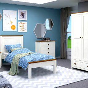 Dormitório Topázio da Finestra em imagem produzida em render 3D pelo Studio 25