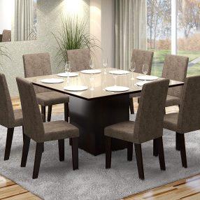 Sala de Jantar da Viero Móveis em imagem produzida em render 3d pelo Studio 25