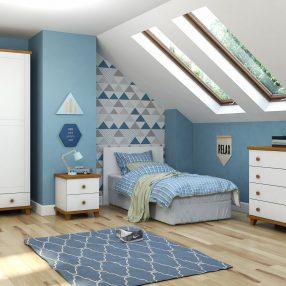 Dormitório infantil Hug da Serpil em imagem produzida pelo Studio 25 em render 3d