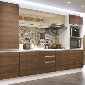 Cozinha Smart da Madesa em imagem produzida pelo Studio 25 em render 3D